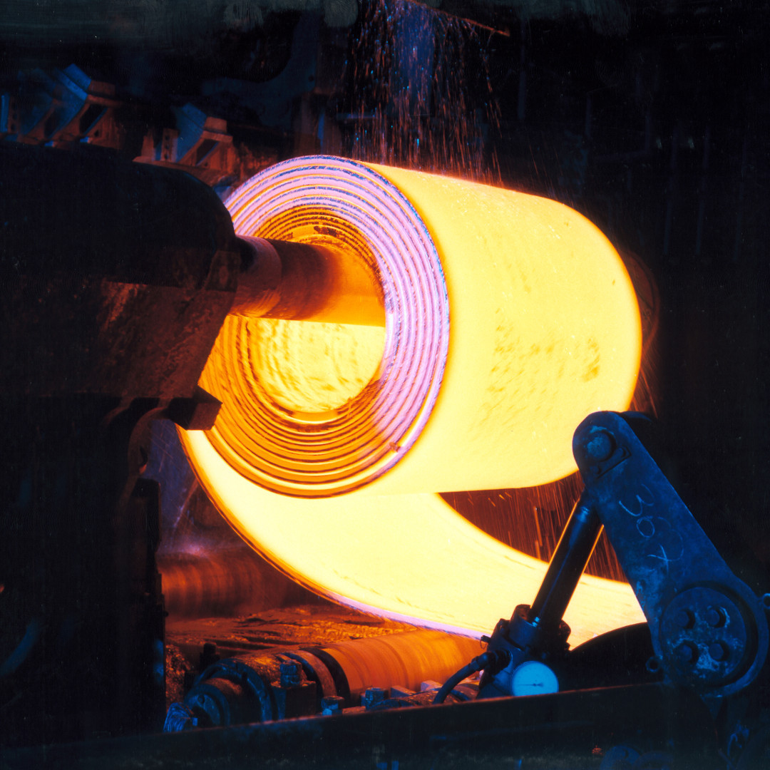Hot steel coil